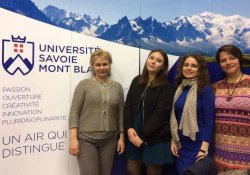 Делегация факультета сервиса и рекламы во Франции